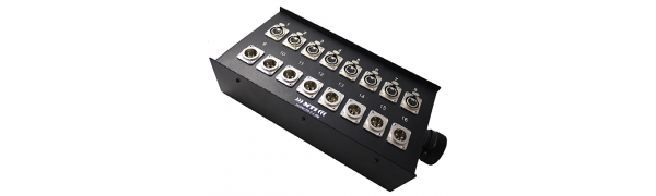 MTI Stagebox 16 Ch., 8x Neutrik XLR-fem./male, 1x Tourline 25p.male