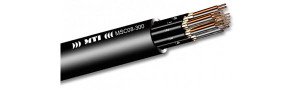 MTI Prof. Audio-Multicore, 8x2x0,22 mm², PVC, schwarz