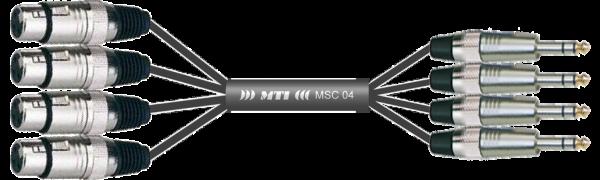 MTI Analog-Loom, XLR-fem./Klinke 3p., 4Ch.