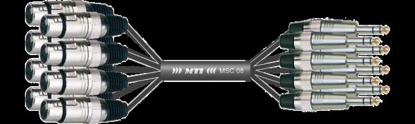 MTI Analog-Loom, XLR-fem./Klinke 3p., 8Ch.