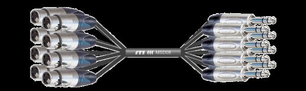 MTI First Class Analog-Loom, XLR-fem. 3p./Klinke 3p., 8Ch.