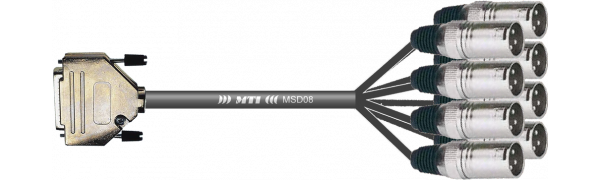 MTI Digital-Loom, D-Sub-male 25p./XLR-male, APO