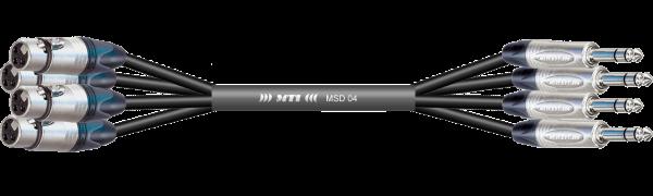 MTI First Class Digital-Loom, XLR-male/Klinke 3p., 4 Ch.