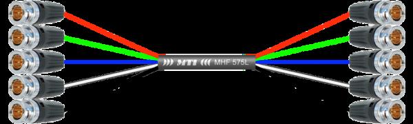 MTI Video-Loom, 2x 5x Neutrik BNC, 75 Ohm