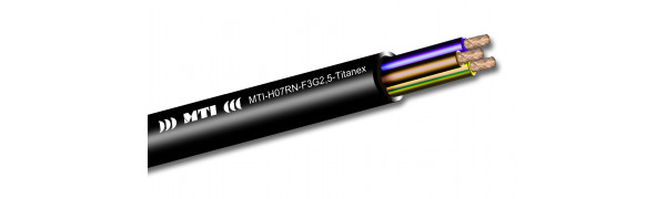 MTI Titanex Stromkabel, 3x 2,5 mm², Gummimantel