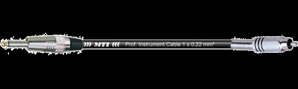MTI Instr.-Cable TP7022, Klinke 2pol./RCA Cinch, schwarz
