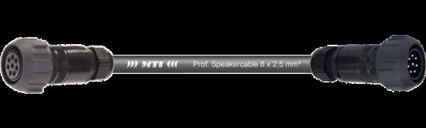 MTI Speakercore, 8x2,5mm², PACOM 8p. fem. m.Ü./male m.Ü., 0,7 m
