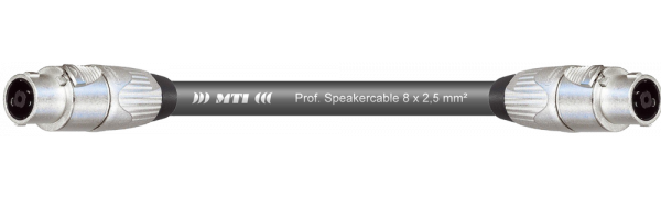MTI Speakercore, 8x 2,5mm², Speakon 8pol., Metall