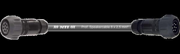 MTI Speakercore, 8x 2,5mm², PACOM 8pol. fem. m.Ü./male m.Ü.