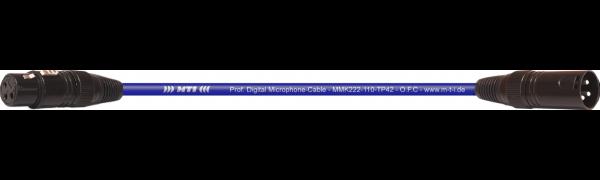 MTI Prof. DMX-Cable, XLR fem./male 3p., dunkelblau