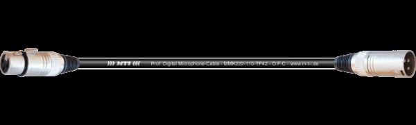 MTI Digital Audio-Adapter, XLR-fem./male 3p.,-10db, 0,2m
