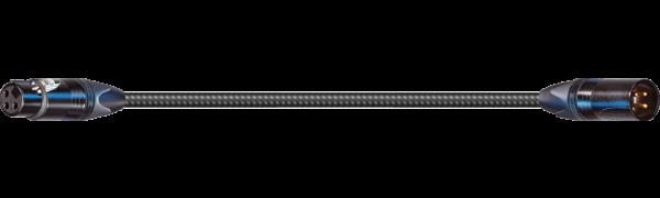 MTI SOUND-SUPREME Digital Micro-Cable TP13, XLR-fem./XLR-male 3p., sw, gold