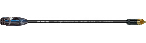 MTI Digital Micro-Cable TP13, Neutrik XLR-fem. 3p./ REAN RCA Cinch Goldkt.