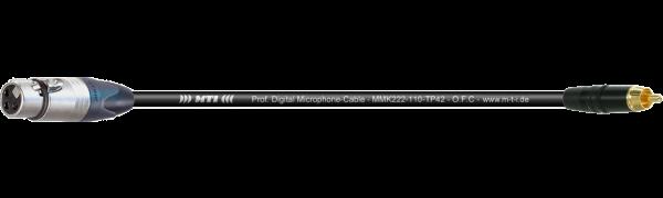 MTI Digital Micro-Cable, XLR-fem. 3p./Cinch-gold