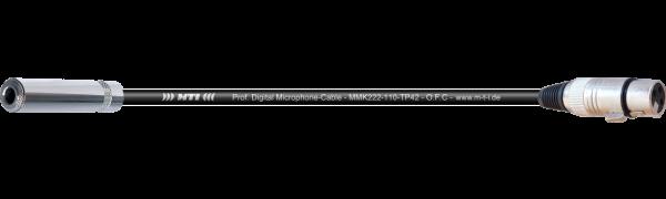 MTI Digital Micro-Cable, Kl.-Buchse/XLR-fem. 3p.