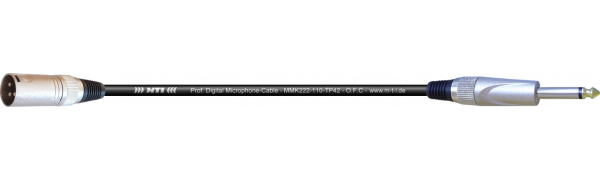 MTI Digital Micro-Cable, XLR-male 3p./Klinke 2p.
