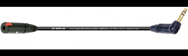 MTI Digital Micro-Cable, Kl.-Buchse/W.-Klinke 3p. schwarz, Goldkte.