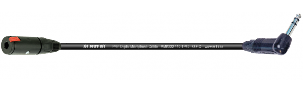 MTI Digital Micro-Cable, Kl.-Buchse/W.-Klinke 3p. schwarz