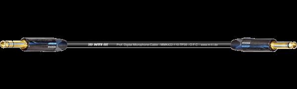 MTI Digital Micro-Cable TP13, Klinke 3p./Klinke 2p., sw, Goldpins