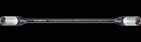 MTI Digital Audio-Adapter, Neutrik XLR-male/male 3p., 0,2 m