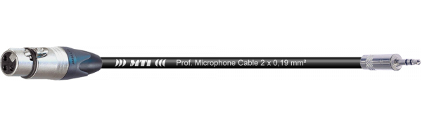 MTI Digital Micro-Cable, Neutrik XLR-fem./Mini-Kl. 3p., br.