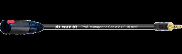 MTI Digital Micro-Cable, Kl.-Bu.sw./Mini-Kl.3p.sw.Goldkontakt