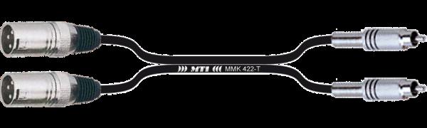 MTI Twinline, 2x XLR-male/Cinch
