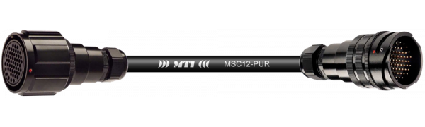 Multicore-Kabel TL37 fem.mit Ü./male ohne Ü., 12 Ch., PUR