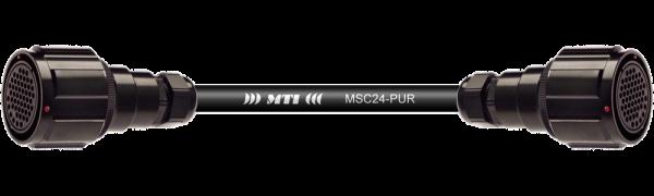 Multicore-Kabel TL85 fem./fem. m.Ü., 24 Ch., PUR