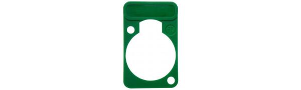 Neutrik Beschriftungsschild Einbau-D-Serie, grün