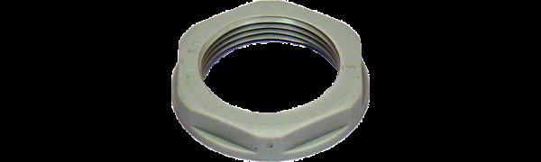 Gegenmutter M 32, Kunststoff, grau