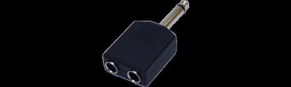 MTI-Adapter, 2xKlinkenbuchse/1xKlinkenstecker 2-p.