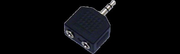MTI-Adapter, 2xMinikl.-Buchse/1xMinikl.-Stecker 3p.