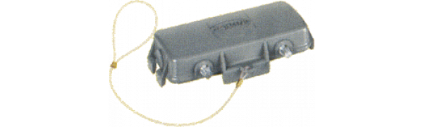 Abdeckkappe, 24B, ohne 2 Kl., Metall