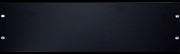 19'' U-Rackblende, 3 HE, Aluminium, schwarz eloxiert