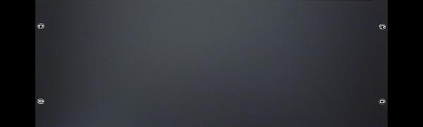 19'' U-Rackblende, 4 HE, Aluminium, schwarz eloxiert