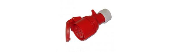 MTI-CEE-Kabelkupplung 5p., 16 Ampere, 6 Uhr, rot