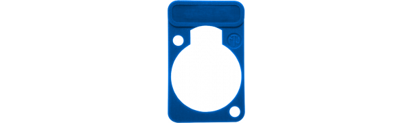 Neutrik Beschriftungsschild Einbau-D-Serie, blau