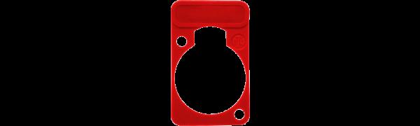 Neutrik Beschriftungsschild Einbau-D-Serie, rot
