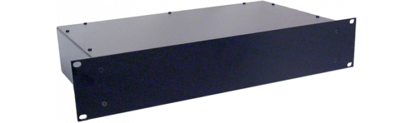 Metallgehäuse, 19'' 2 HE, geschl. Front, 24 cm tief