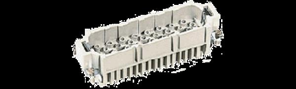 Stiftkontaktträger, 64pol., HAN-D 24B