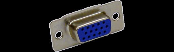 SUB-D-Kontaktträger, 15p. female, Goldkontakt, HD