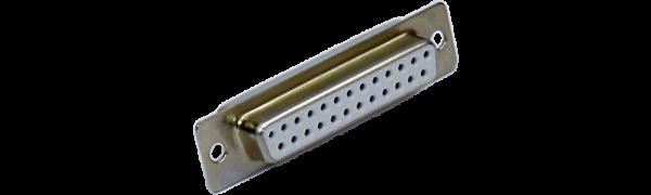 SUB-D-Kontaktträger, 25p. female, Goldkontakt