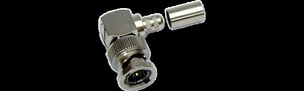 MTI BNC-Kabelstecker, abgewinkelt, RG59, 75 Ohm, Crimp