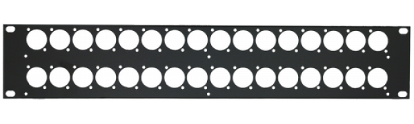 MTI Patch-Panel, 32 Bohrungen - D-Serie