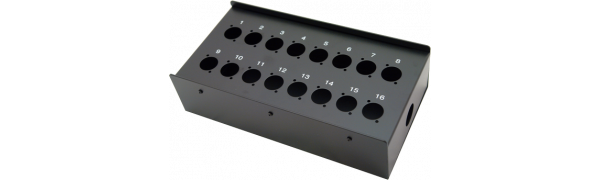 MTI Metall-Stagebox, 16 Bohrungen, Neutrik D-Serie