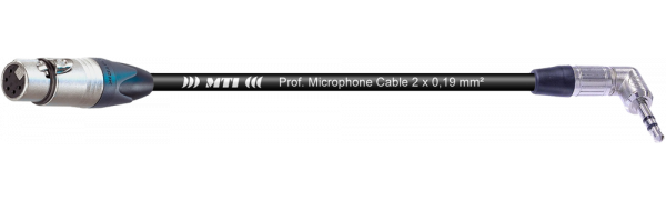 MTI Digital Audio-Adapter, XLR 5p./Mini-Winkel-Kl. 3p., br., 0,2 m
