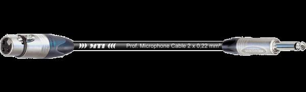 MTI Digital Audio-Adapter, Neutrik XLR-fem. 3p./Klinke 2p., 0,2 m