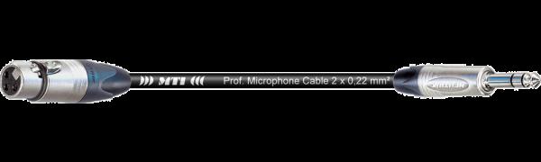 MTI Digital Audio-Adapter, Neutrik XLR-fem./Klinke 3p., 0,2m