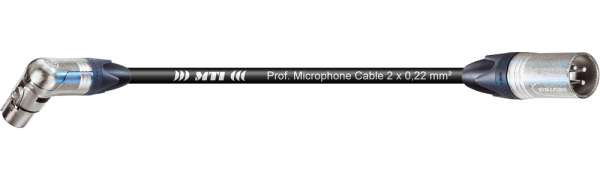 MTI Digital Audio-Adapter, Neutrik Winkel-XLR-fem./male-gerade 3p., 0,2 m